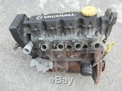 VAUXHALL ASTRA G MK4 1.6 8V ENGINE X16SZR bare engine 1998 TO 2000