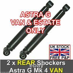 VAUXHALL ASTRA G MK4 VAN 1998 2004 REAR SHOCK ABSORBERS SHOCKERS x 2 NEW