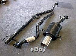 VAUXHALL ASTRA Mk4 1.6L 16V SPORTS EXHAUST SYSTEM 2001-2005 SQUARE TIP