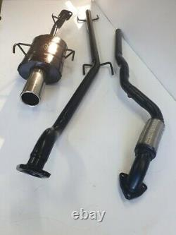 VAUXHALL ASTRA Mk4 COUPE 1.6L 16V SPORTS EXHAUST SYSTEM 2001-2005 3.5 Tip