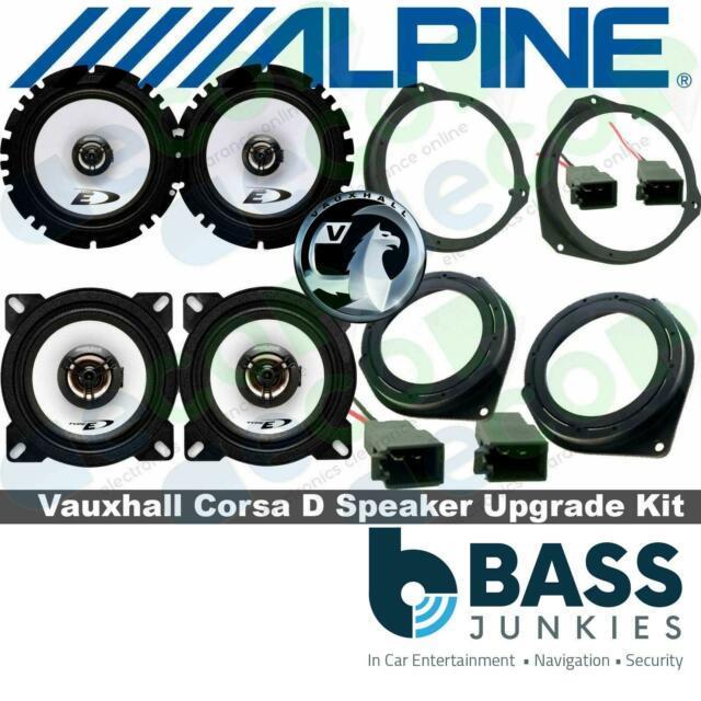 Vauxhall Astra G Mk4 Alpine 800 Watts Front Door & Rear Door Car Speaker Kit