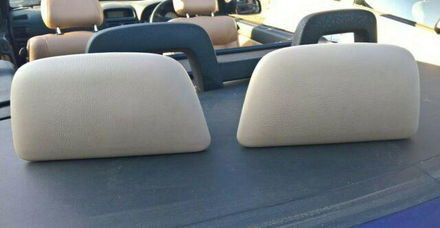 Vauxhall Astra G Mk4 Convertible Cabriolet Rare Rear Headrests In Beige Leather