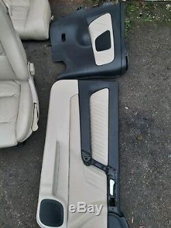 Vauxhall Astra G MK4 Convertible Cream Leather Interior Seats & Door Cards