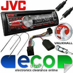 Vauxhall Astra G MK4 JVC Car Stereo Radio CD MP3 USB AUX In & Steering Wheel Kit