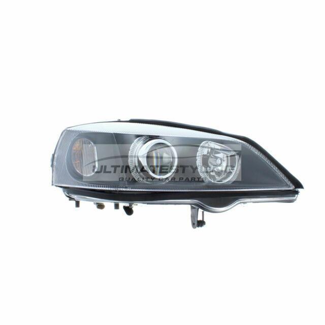 Vauxhall Astra G Mk4 1998-2004 Black Angel Eye Head Light Lamp Pair Left & Right