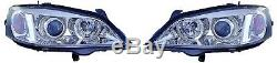 Vauxhall Astra G Mk4 1998-2004 Chrome Angel Eye Head Lights Pair Left & Right