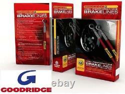 Vauxhall Astra G Mk4 98-04 Goodridge stainless braided brake hoses