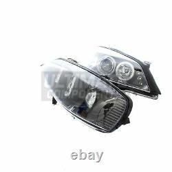 Vauxhall Astra G Mk4 Convertible 1998-2004 Angel Eyes Headlights Headlamps Black