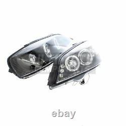 Vauxhall Astra G Mk4 Coupe 1998-2004 Angel Eyes Headlights Headlamps Black Inner