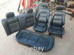 Vauxhall Astra G Mk4 Coupe Black Leather Interior Seats 1999-2005