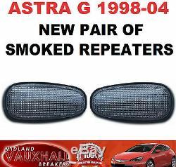 Vauxhall Astra G Mk4 Pair Smoked Side Repeaters Indicators New Sri Sxi Gsi Van