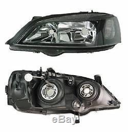 Vauxhall Astra G Pair Black Sports Headlights Coupe Convertible Hatch Sxi Sri