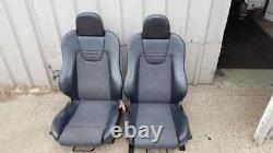 Vauxhall Astra Gsi Turbo Front Half Leather Recaro Car Seats Ideal Van Mk4 G