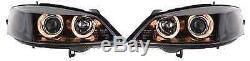 Vauxhall Astra Mk4 98-04 Black Angel Eye Headlights Lighting Lamp Spare Part
