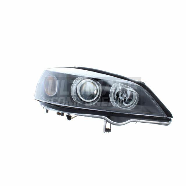Vauxhall Astra Mk4 Convertible 1998-2004 Depo Angel Eyes Headlights Lamps Black