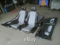 Vauxhall Astra Mk4 Convertible Half Leather Interior Seats + Door Cards 98-04