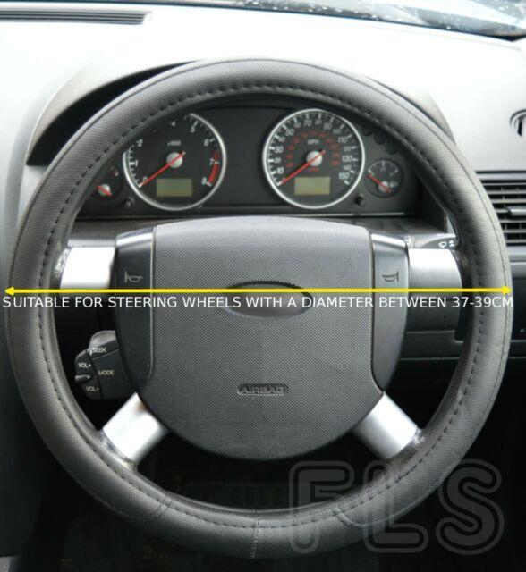 Vauxhall Faux Leather Look Steering Wheel Cover Black