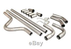 Vauxhall Full Cat Back System Sports Universal Exhaust Back Box 002+ 2 Pipe Kit