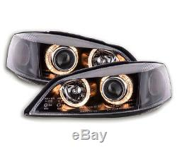 Vauxhall / Opel Astra G 1998-2004 Black Angel Eyes Headlights Pair RHD/LHD