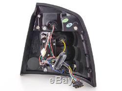 Vauxhall / Opel Astra G 3/5 Door 1998-2003 Black Rear LED Tail Lights Pair NEW