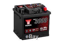 YUASA PREMIUM 12v Type 079 Car Battery 3 Year Warranty EB500 YBX3012
